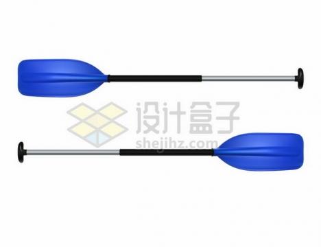 蓝色的皮划艇船桨划桨386019 png图片素材