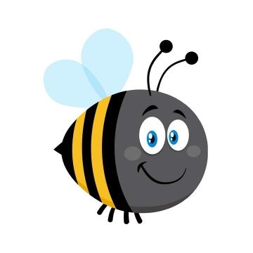非常可爱的卡通小蜜蜂免抠矢量图片素材