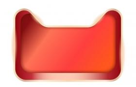 立体盒子状天猫猫头背景框图片免抠矢量素材