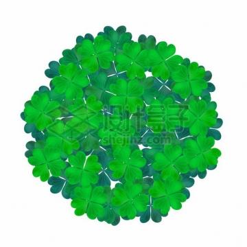 四叶草组成的标题背景装饰833978png图片素材