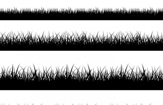 5款草地装饰剪影图片免抠矢量素材