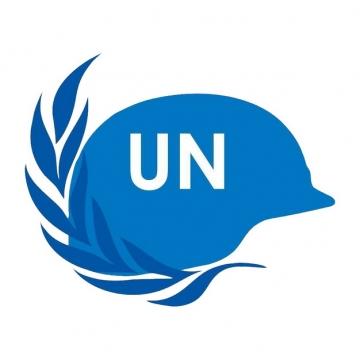 蓝色联合国维和部队头盔国际维和人员日png图片素材