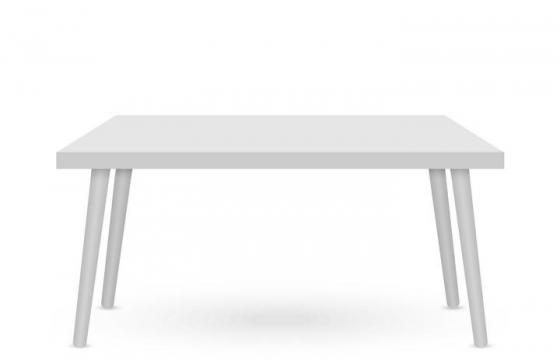 一张银色简约风格的桌子免抠矢量图片素材