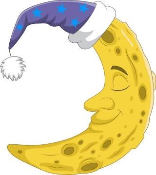 可爱的卡通黄色月亮简笔画图片免抠素材