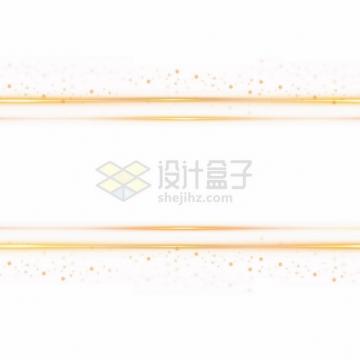金黄色发光线条平行线光斑装饰png图片素材