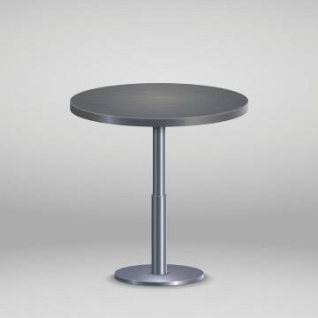 金属灰色的圆桌桌子免抠矢量图片素材