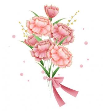 手绘风格粉色的康乃馨母亲节花朵花卉图片免抠素材