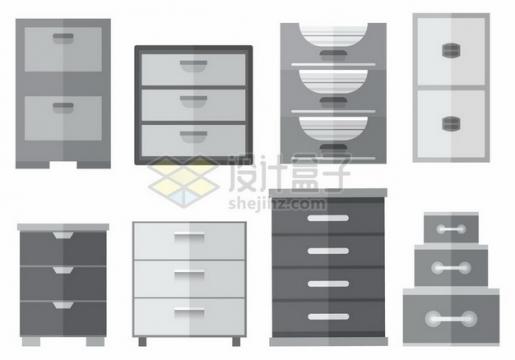 各种灰色的文件柜187258png图片素材