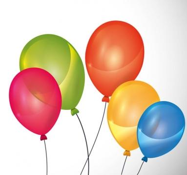 手绘风格彩色气球图片免抠素材
