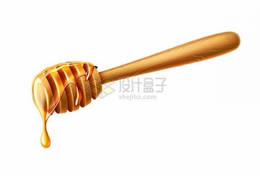 逼真的蜂蜜棒上流淌的蜂蜜806315png图片矢量图素材
