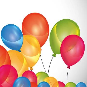 手绘彩色糖果色气球装饰图片免抠素材