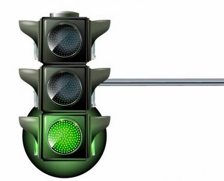 绿灯亮的红绿灯交通信号灯免抠png图片矢量图素材
