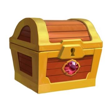 游戏中镶着宝石的宝物箱图片免抠素材