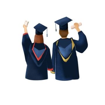 手牵手头戴学士帽的情侣毕业生毕业季图片免抠素材