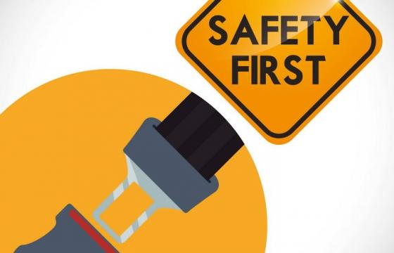 安全带提示图片免抠素材