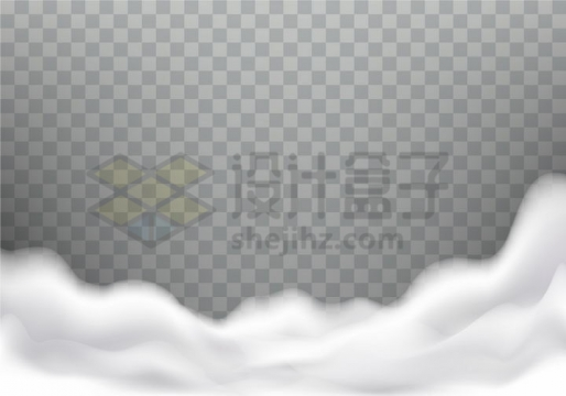 乳白色的烟雾白云装饰png图片免抠矢量素材