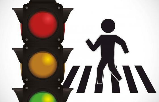 请走人行横道红绿灯png图片免抠素材