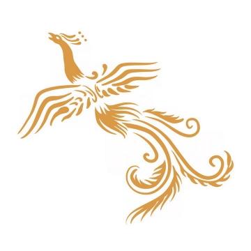 中国传统金凤凰花纹图案png图片免抠素材