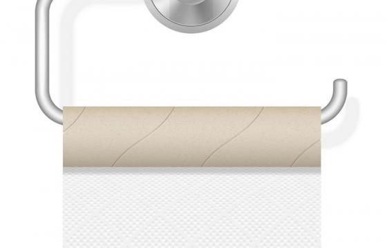 用没了的卷筒纸卫生纸的卷纸架图片免抠素材
