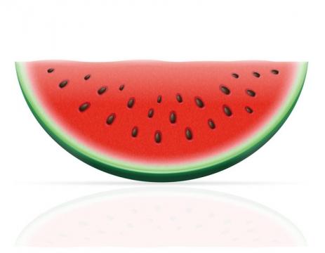 切开的西瓜美味水果免抠矢量图片素材