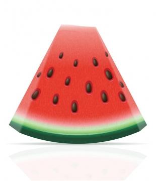 切开一小片的美味水果西瓜免抠矢量图片素材