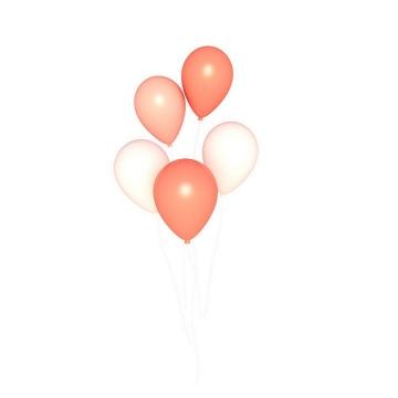 白色红色气球图片免抠素材