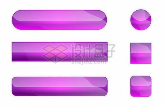 各种紫色玻璃水晶按钮670204png图片素材