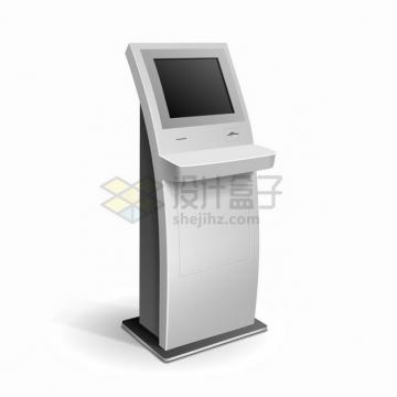 自助服务终端机触摸屏一体机自动取票机094723png图片素材