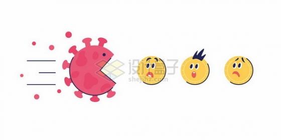 新型冠状病毒版吃豆游戏png图片素材