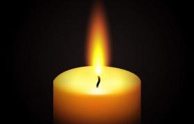 黑暗中正在燃烧火焰的短蜡烛免抠矢量图片素材