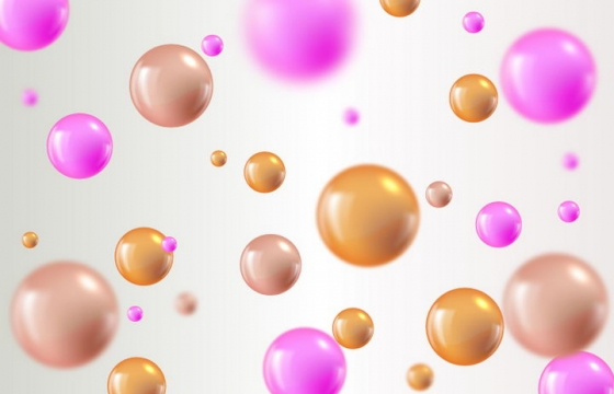 立体风格的紫色和棕色小球背景图片