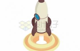 卡通火箭发射图837211png矢量图片素材
