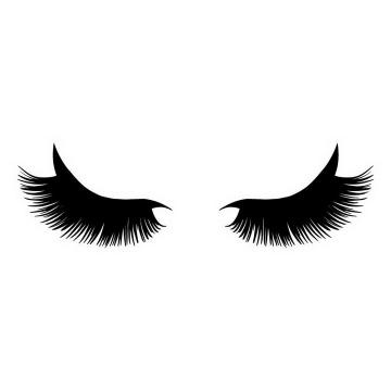 手绘风格假睫毛化妆免抠png图片矢量图素材