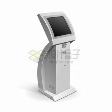 自助服务终端机触摸屏一体机自动取票机875621png图片素材