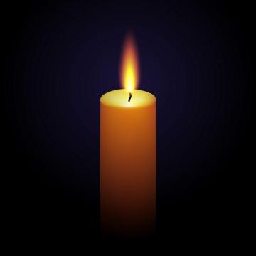 黑暗中正在燃烧火焰的高蜡烛免抠矢量图片素材