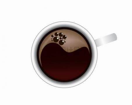 冒泡的咖啡杯饮料杯子俯视图png图片免抠矢量素材