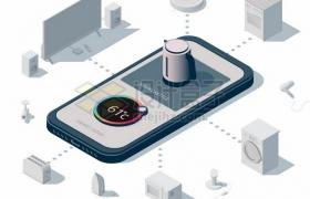 手机连接控制各种智能家居216663png矢量图片素材