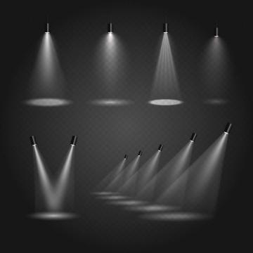 六款舞台灯光照射效果图片免抠素材