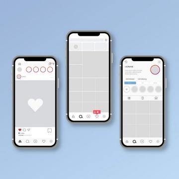 社交网站手机APP UI展示效果图片免抠素材