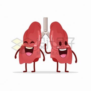 可爱的卡通肺部人体器官组织png图片素材