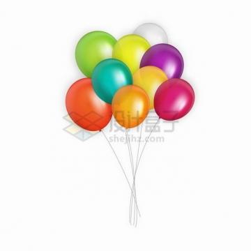红色橙色蓝色绿色紫色黄色白色彩色气球png图片素材