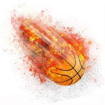 燃烧着火焰的篮球特效果4355762png图片素材