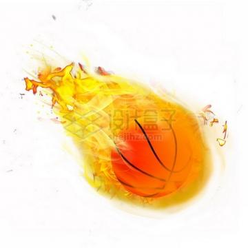 燃烧着火焰的篮球特效果343462png图片素材