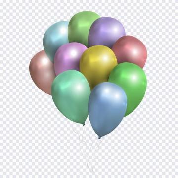 五颜六色的彩色气球装饰免抠png图片矢量图素材