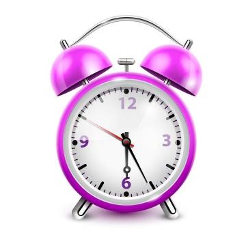 一款紫色的闹钟图片免抠素材