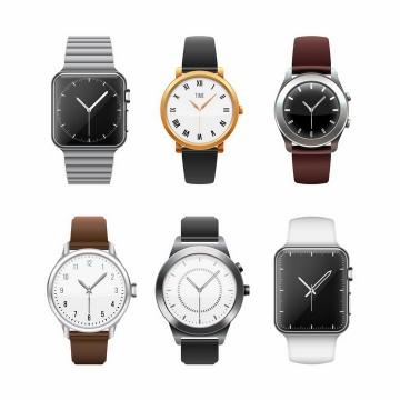 6款智能手表苹果iWatch png图片免抠矢量素材