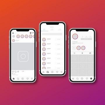 社交APP UI手机展示效果图片免抠素材