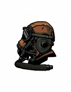 漫画风格戴着护目镜和防毒面具png图片免抠矢量素材