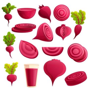 各种红萝卜甜菜美味蔬菜图片免抠矢量素材