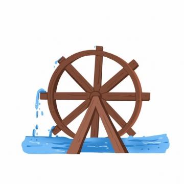 木制水车467236png图片免抠素材